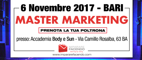 6 novembre bari master marketing